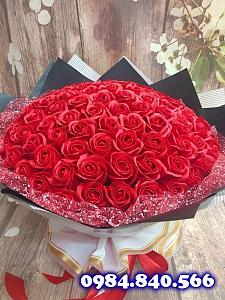 Bó 99 bông hồng sáp thơm màu ...