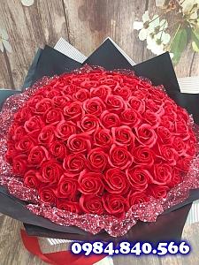 Bó hoa hồng sáp thơm 99 bông ...
