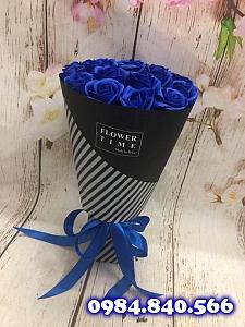 Bó hoa hồng sáp thơm 21 bông ...