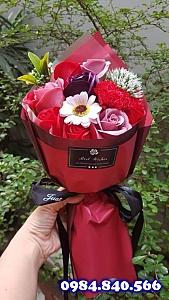 Bó hoa hồng sáp thơm màu đỏ ...