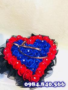 Trái tim meka hoa sáp thơm màu ...