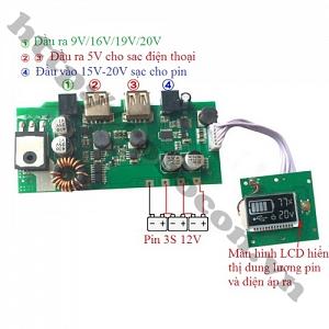 MDL284 Mạch Sạc Dự Phòng Pin Laptop, ...